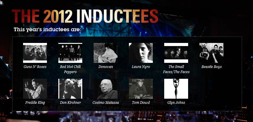 ROCK AND ROLL HALL OF FAME 2012 inductees